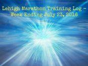 Lehigh Marathon Training